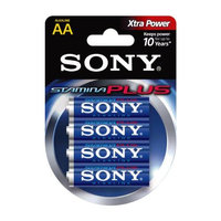 SONY S-AM3B4A STAMINA(R) PLUS Alkaline Batteries (AA; 4 pk)