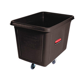 Rubbermaid Commercial Products Rectangular Cube Truck in Black