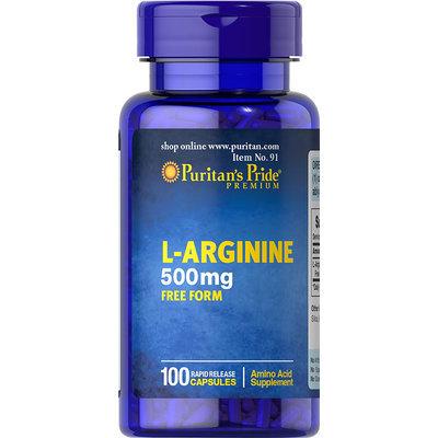 Puritan's Pride 2 Units of L-Arginine 500 mg-100-Capsules