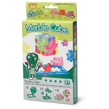 Happy Company Happy Cubes MC40-6 Marble Cube 6-Pack Puzzles