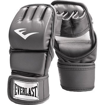 Everlast Womens 6-Ounce Leather Kickboxing Gloves, Grey