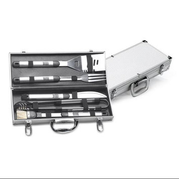 Cc Home Furnishings Stainless Steel 6-piece Barbecue Tool Set With Bbq Aluminum Carrying