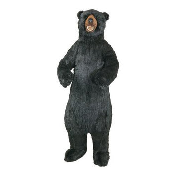 The Hen House 58 Large Life-Size Standing Plush Black Bear Stuffed Animal with Poseable Arms