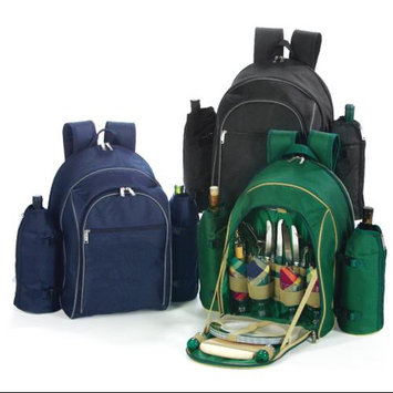 Cc Home Furnishings On-The-Go Backpack Picnic Set for 4 with Dual Detachable Wine Carriers - NAVY