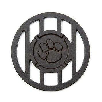 Cc Sports Pawprint Sports Mascot Inspired Round Branding Grill Iron Accessory