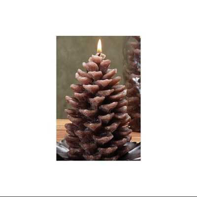 Cc Home Furnishings Pack of 6 Unique Pine Cone Shaped Evergreen Scented Candles 6