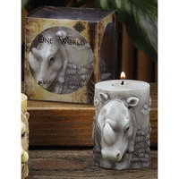 Cc Home Furnishings Pack of 6 Unscented Gray Sculpted Rhino Pillar Candles - 3