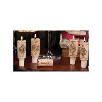 Cc Home Furnishings Set of 6 Wine Country Merlot Scented Cork Candles