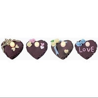 Roman Club Pack of 24 LED Lighted Chocolate Heart Tea Light Candles