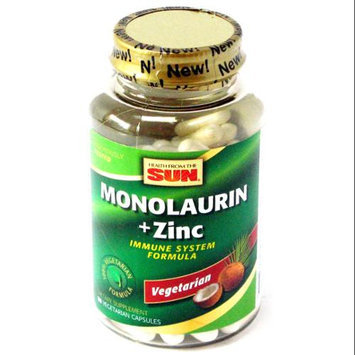Health From The Sun - Monolaurin Zinc Immune System Formula - 90 Vegetarian Capsules