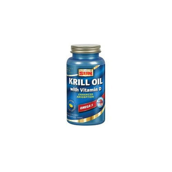 Health From The Sun - Krill Oil with Vitamin D - 60 Softgels