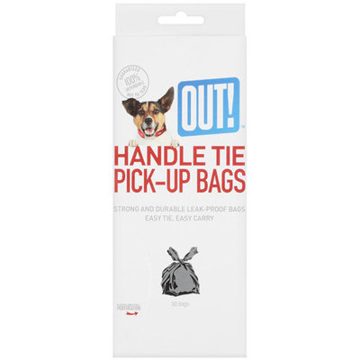 Out Pet Waste Pick-Up Handle Tie Bags 50 Count