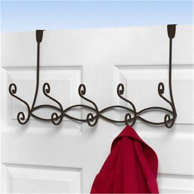Spectrum Diversified 82324CAT Patrice Over the Door 5 Hook Rack Bronze