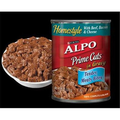 Nestlé Purina Pet Care Canned NP15271 Alpo Prime Cuts Beef & Bacon 12-13 Oz.