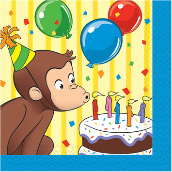 Birthday In A Box Curious George Beverage Napkins (16-pack)