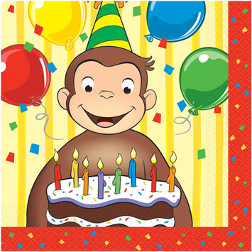 Birthday In A Box Curious George Lunch Napkins (16 count)