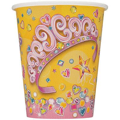 Unique Industries Unique 25656 Paper Cups 9 Ounces 8 Package Pretty Princess