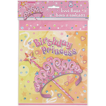 Unique Pretty Princess Look Bags 8 Count(Case of 144)
