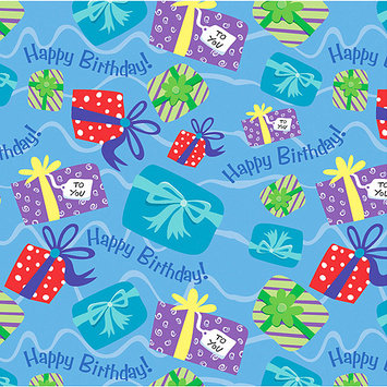 Unique PRNTGW-43196 Printed Gift Wrap 30 Wide 5 Foot Roll