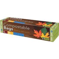 PRESTO 6 Count 30 Gallon Compostable Plastic Bags