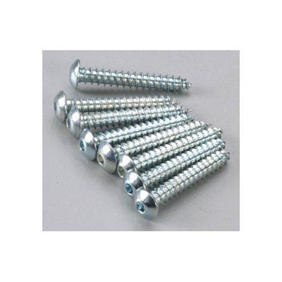 DUBRO PRODUCTS 528 Button Head Sheet Metal Screws 4x3/4 (8)