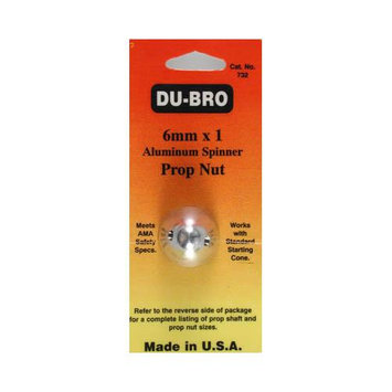 DUBRO PRODUCTS 732 Spinner Prop Nut 6mm