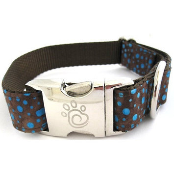 Chief Furry Officer PCH Dog Collar Size: Small, Color: Turquoise