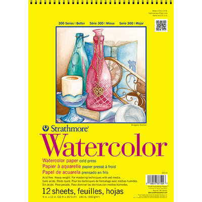 Strathmore 300 Series Student Watercolor Pads