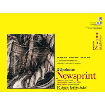 Pro-art Strathmore Rough Newsprint Paper Pad 18