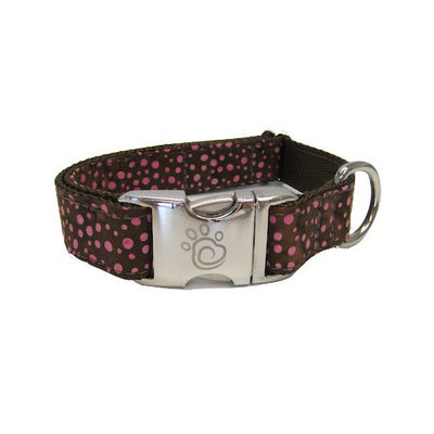 Chief Furry Officer Robertson Blvd Dog Collar Size: Medium, Color: Raspberry