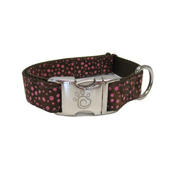 Chief Furry Officer Robertson Blvd Dog Collar Size: Extra Small, Color: Raspberry