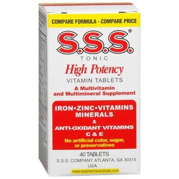 Sss Tonic Zinc Iron & Antioxidant 40 Tablets - Suplemento