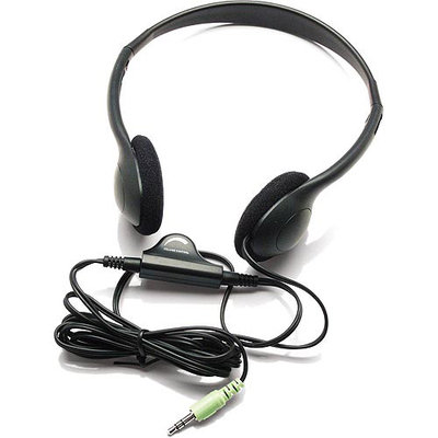 Inland Products 87010 Hdph Lightweight Headphones With Volume Control