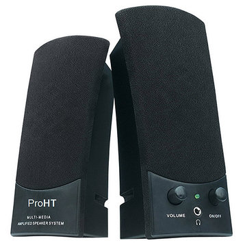 Inland 88037 ProHT USB 2.1 Speaker System Black