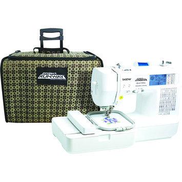Brother International Brother Project Runway Sewing and Embroidery Machine with Tote, LB6800PRW