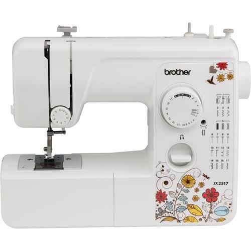 Brother Sewing Machine JX2517 Lightweight - 17 Stitch - 4 Step Buttonholer