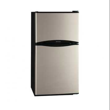 Frigidaire Compact Refrigerator 4.5 cu. ft. Mini Refrigerator in Silver Mist, Energy Star Stainless Look FFPS4533QM