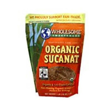 WHOLESOME SWEETNERS 1 Organic Sucanat 1 LB