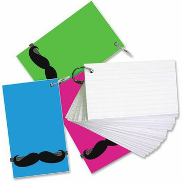 Redi-tag Mustache Band Ruled Index Cards - 0.69 X 2 - 3 / Pack - Assorted Divider (rtg-28113)