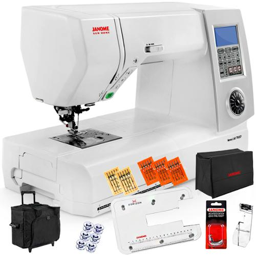 Janome New Home Memory Craft 7700QCP Sewing and Quilting Machine