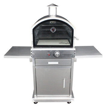 HomComfort Patio Islands & Grilling Centers 16,000 BTU Propane Stainless Steel Outdoor Pizza Oven HCP16SS