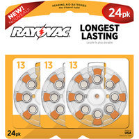 Rayovac L13ZA24ZM 24 Pack Battery for Hearing Aid