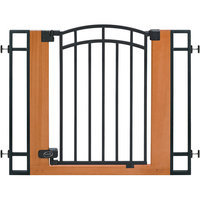Summer Infant Inc. Stylish & Secure Wood & Metal Walk-Thru Gate 07534Z