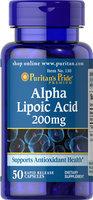 Puritan's Pride 2 Units of Alpha Lipoic Acid 200 mg-50-Capsules