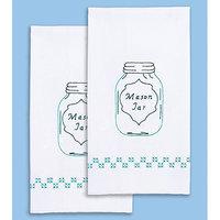 Jack Dempsey NOTM358806 - Stamped White Decorative Hand Towel 17