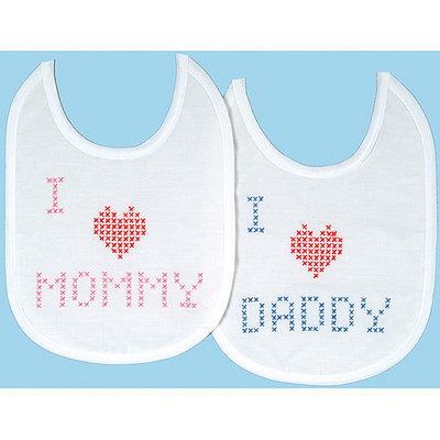 Jack Dempsey Inc. Jack Dempsey XX Love Quilted Baby Bib
