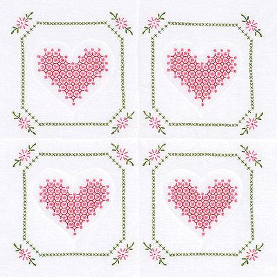 Jack Dempsey NOTM274563 - Stamped White Quilt Blocks 18