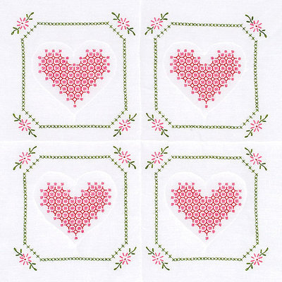 Jack Dempsey NOTM274627 - Stamped White Quilt Blocks 18