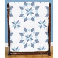 Jack Dempsey Stamped White Quilt Blocks 18inX18in 6/Pkg-Interlocking XX Western Star