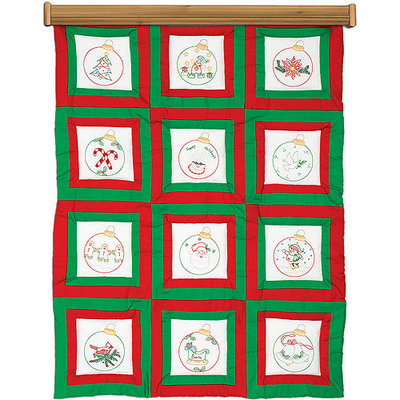 Jack Dempsey NOTM274647 - Themed Stamped White Quilt Blocks 9